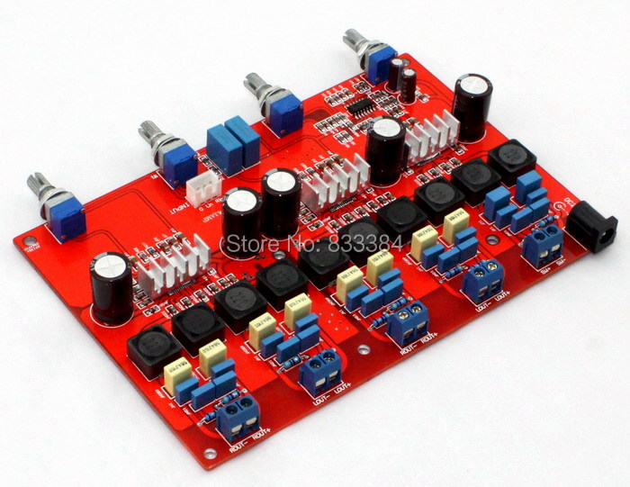 4.1 TPA3116 digital amplifier assembled board class D DC18V-DC24V (100W+50W*4)
