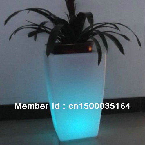 Glowing lighting LED flower pot! Remote control color changing RGB led flower pot SL-LFP-3050F(China (Mainland))