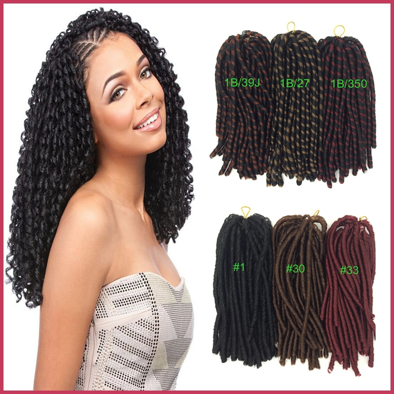 35cm Synthetic Long Curly Nina Soft Dread Hair Extension For African ...