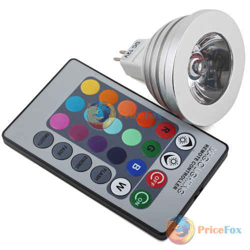 PriceFox Cheap!! MR16 RGB LED Color Change Lamp Light w Remote Control most popular(China (Mainland))
