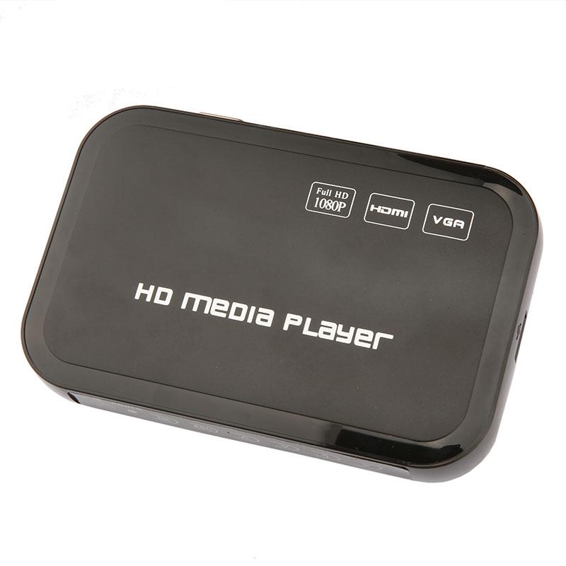 10pcs/lot Mini Full HD 1080P HDD Media Player HDMI VGA SD Card MMC Support DIVX AVI RMVB MP4 H.264 FLV MKV Music Movie(China (Mainland))