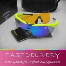 2016 NEUE SPORT ciclismo oculos Genetyk Projekt NOYZ sonnenbrille UV400 OBJEKTIV motocross goggles POC gafas(China (Mainland))