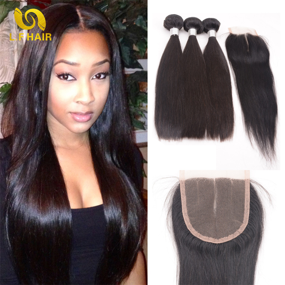 Beauty Forever Hair Brazilian Straight Hair With Closure 3pcs 1b 7a Mink Brazilian Hair With Closure Tissage Cheveux Humain<br><br>Aliexpress
