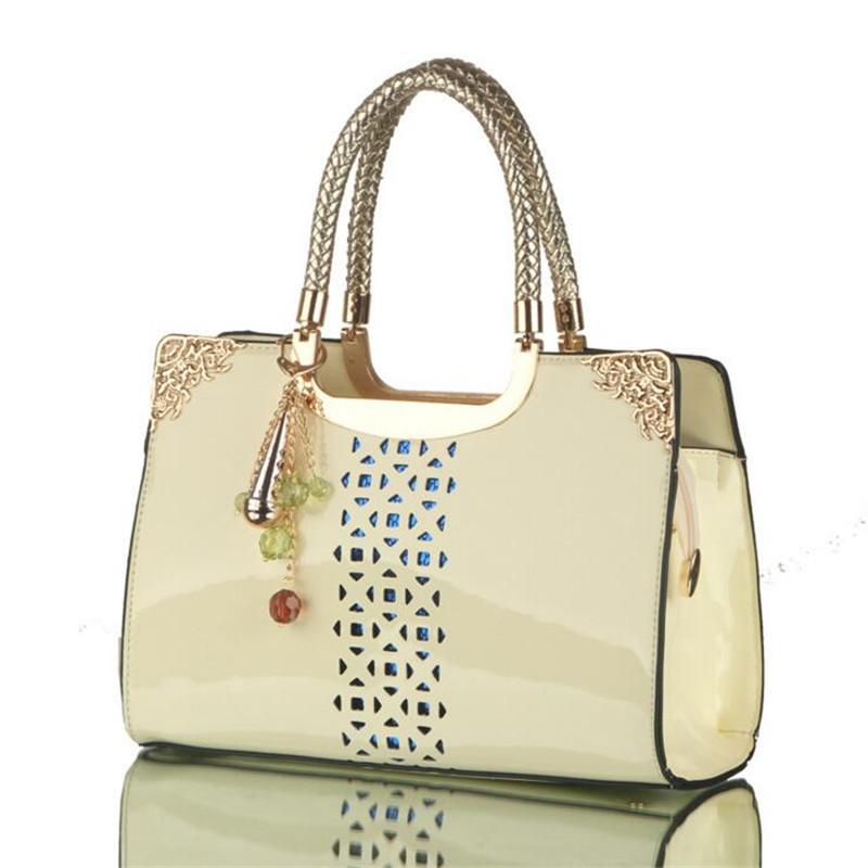 2016 New Patent Leather Women Handbags Designer Leather Bag Messenger Bags Lady Handbag Brand Fashion Shoulder Bags Bolsas(China (Mainland))