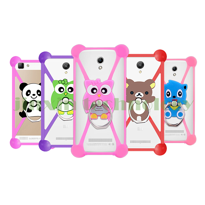 2016 New Cartoon Ring Stand Holder Soft Silicone Case For myPhone Venum zeleny Cell Phone 3.5 - 5.5 Inch Bumper Frame Cover(China (Mainland))
