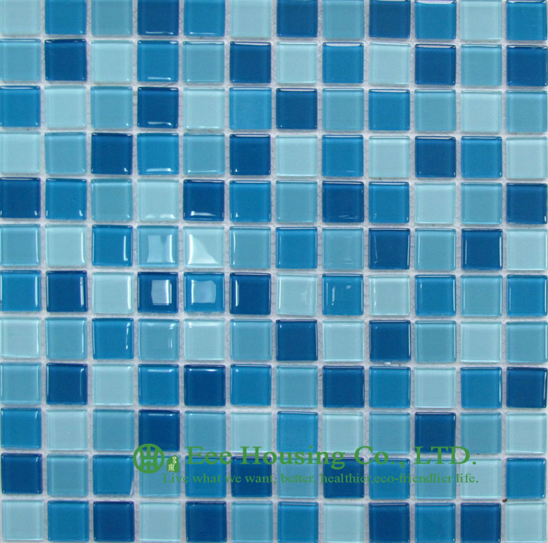 Washable and Durable Crystal Mosaic Tile Manufacturer in China, For Bathroom / Swimming Pools (Crystal Mosaic Tile-10)(China (Mainland))