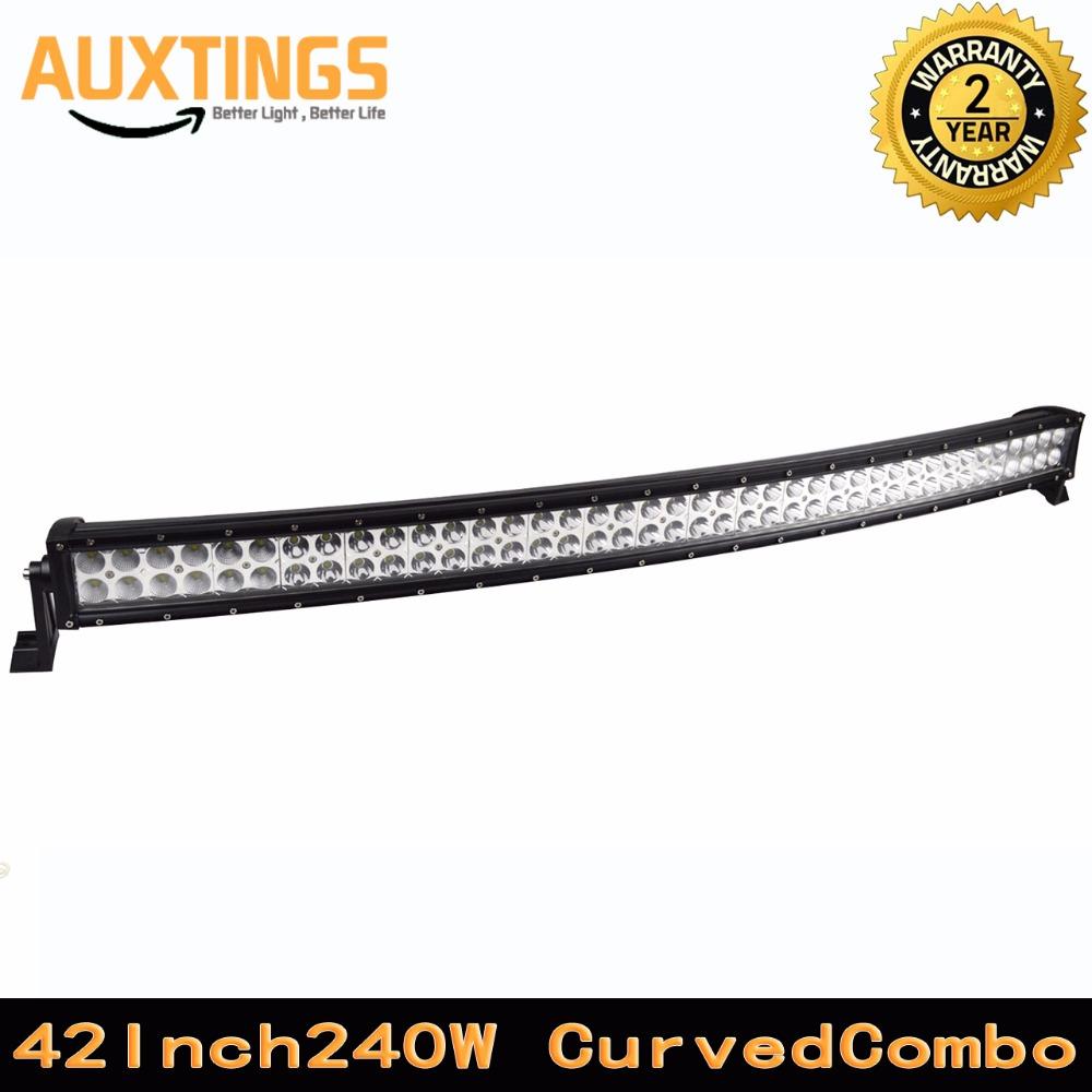 "FREE SHIPPING curved led light bar 120 volt 40""42""inch 240W watt COMBO led work light 4X4 CREES led driving lights marine light(China (Mainland))"