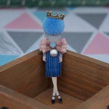 Nuova venuta gioielli di moda spilla con vetro della ragazza fredda carino spilla pin distintivo del fumetto vestiti icona Spille per la Donna accessori(China)