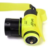 Дайвинг фар waterpoof головной фонарь q5 привело фары подводные лампы плавание lanterna лобной фонарик 18650 или 3aaa