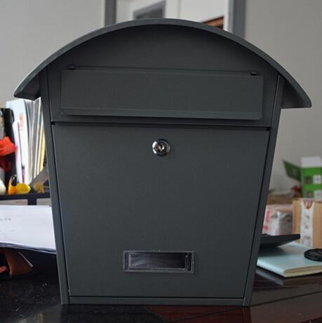 vintage bo te ext rieure tanche bo te bo te aux lettres gris m tal bo te aux lettres dans. Black Bedroom Furniture Sets. Home Design Ideas