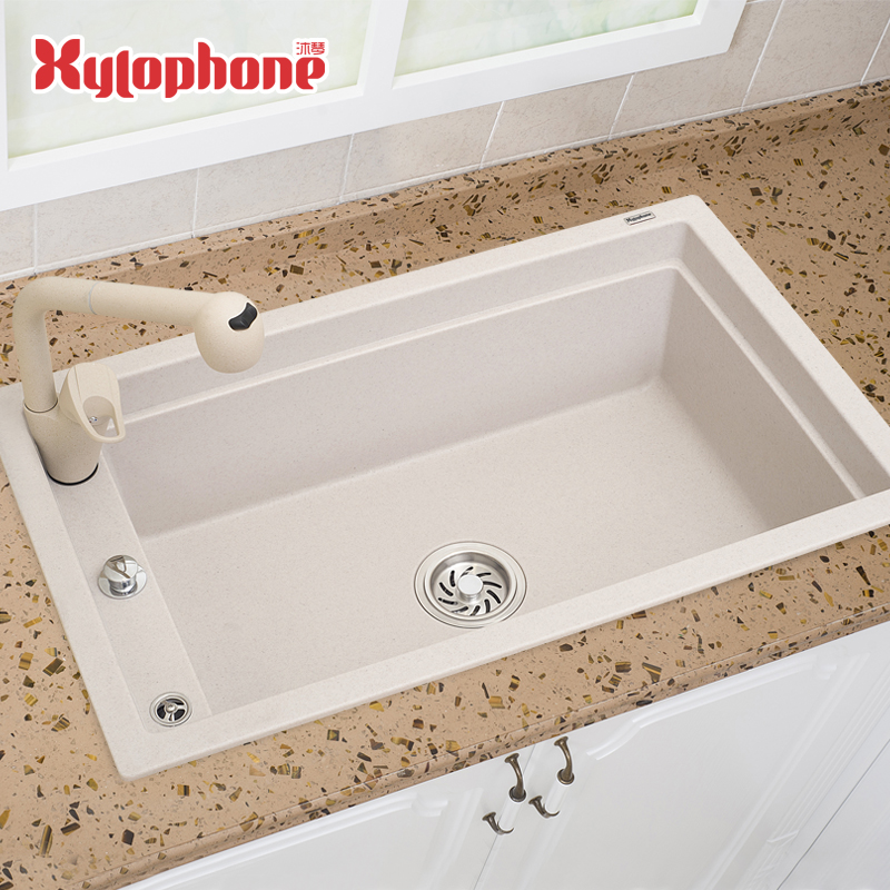 Quartz Stone Kitchen Sink : Quartz Stone Kitchen Sink Ultralarge Single Bowl Sink Granite Above ...