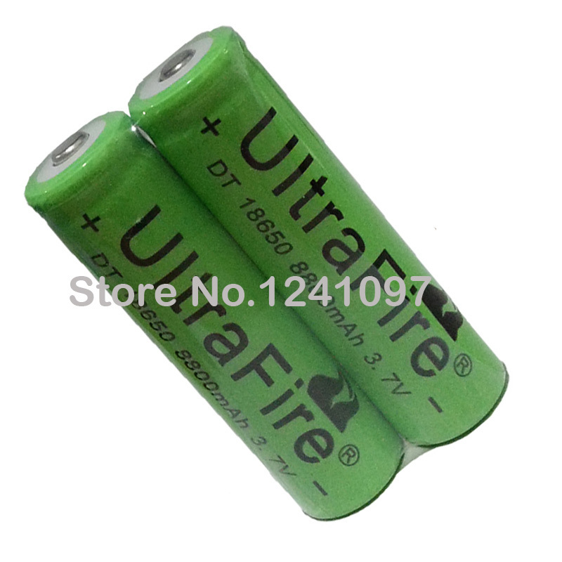 New 10x 18650 rechargeable battery 3 7v 8800 mAh Lithium li ion battery for led Flashlight