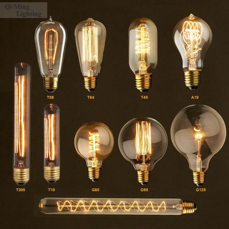 Loft American Vintage Copper/Brass E26/E27 Lamp Holder Edison Bulbs AC110/220V Incandescent Pendant Decoration Light - Zhongshan Qi Ming Trading Co., Ltd. store