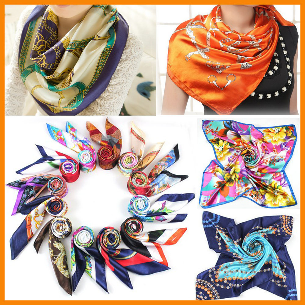 Big Size 90*90 Vintage women Lady Girls fashion Silk satin Square Scarf Neck Head Wrap Imitated Feel Small scarves - Enjoy Sweet Life store