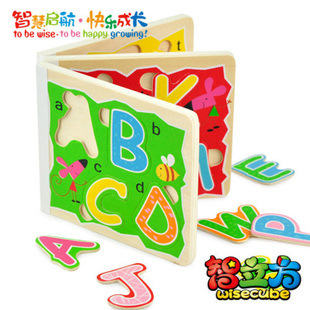 Puzzles Perler Beads Toys Baby Toy Kids Educational 26 English Alphabet Book Early Puzzle Assembling Stereo Jigsaw Kindergarten(China (Mainland))