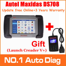 [AUTEL Distributor]2015 Top 100% Original Autel Maxidas DS708 Update Online Auto Diagnostic Scanner 3 Years Warranty,Free Ship(China (Mainland))