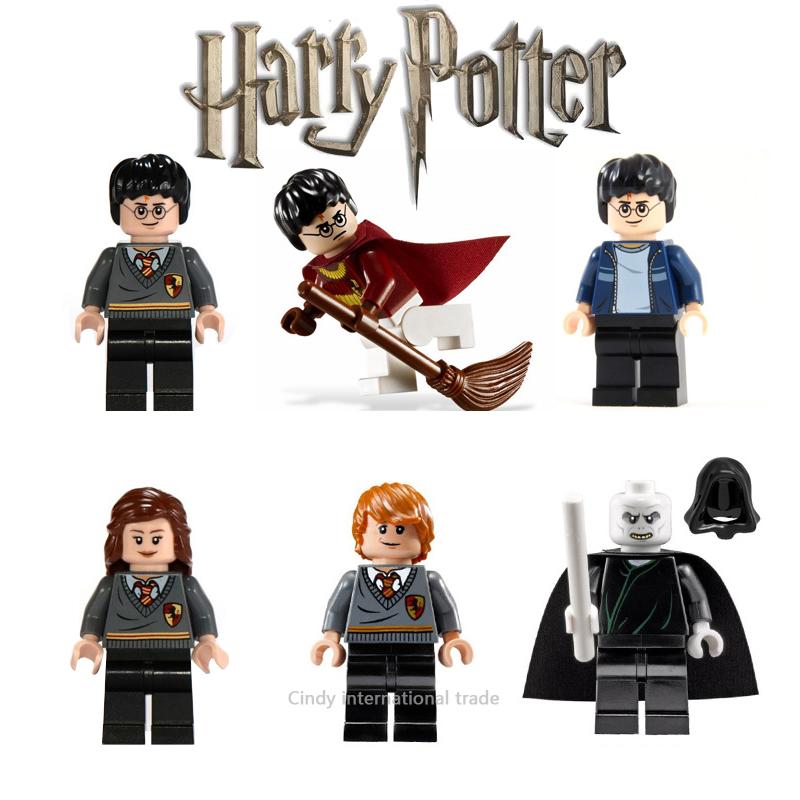 6pcs/set Harry Potter Minifigures Lord-Voldemort Hermione Granger Ron Weasley Building Blocks Legoelieds Children Gift Toys(China (Mainland))