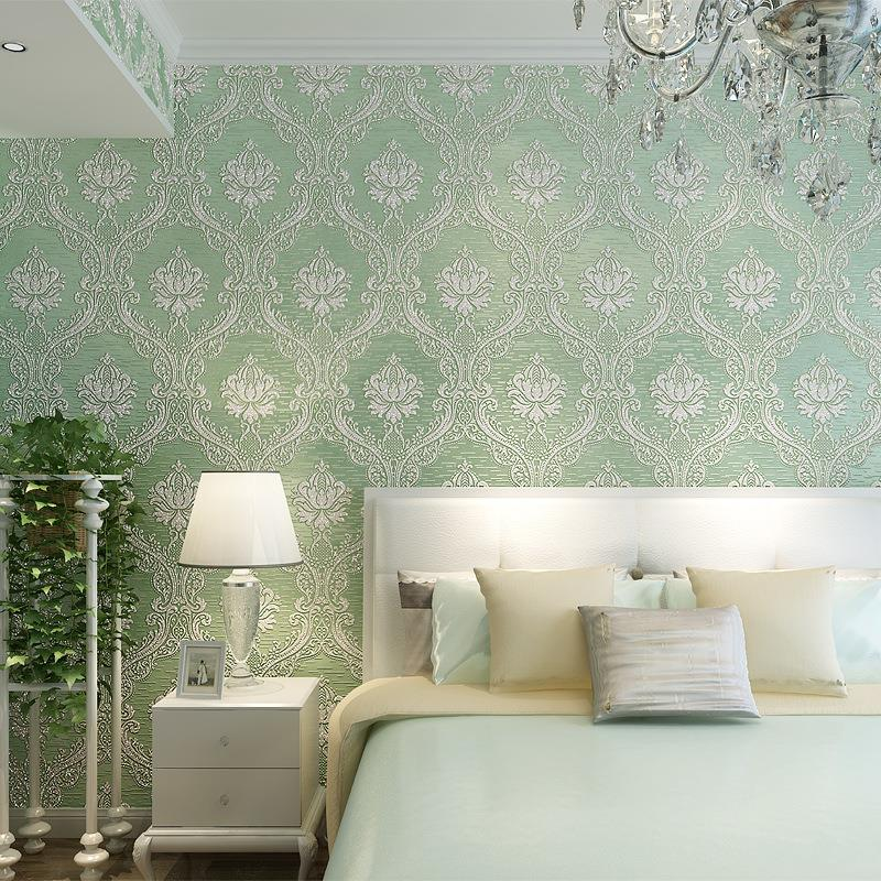 Wallpaper For Homes Wall Covering : Promotion floral wallpaper d flocking wall covering nice