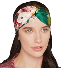 1 Pc Summer Fashion Women Elastic Turban Twisted Knotted Headband Ethnic Floral Wide Stretch Cross Knot Hair Bands Accessories(China (Mainland))
