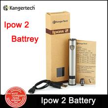 Genuine Kanger Ipow2 1600mAh E Cigarette  EGO Battery  Kanger Ipow 2 with LED Screen Micro USB Charging E Cigs Free ship (MM)