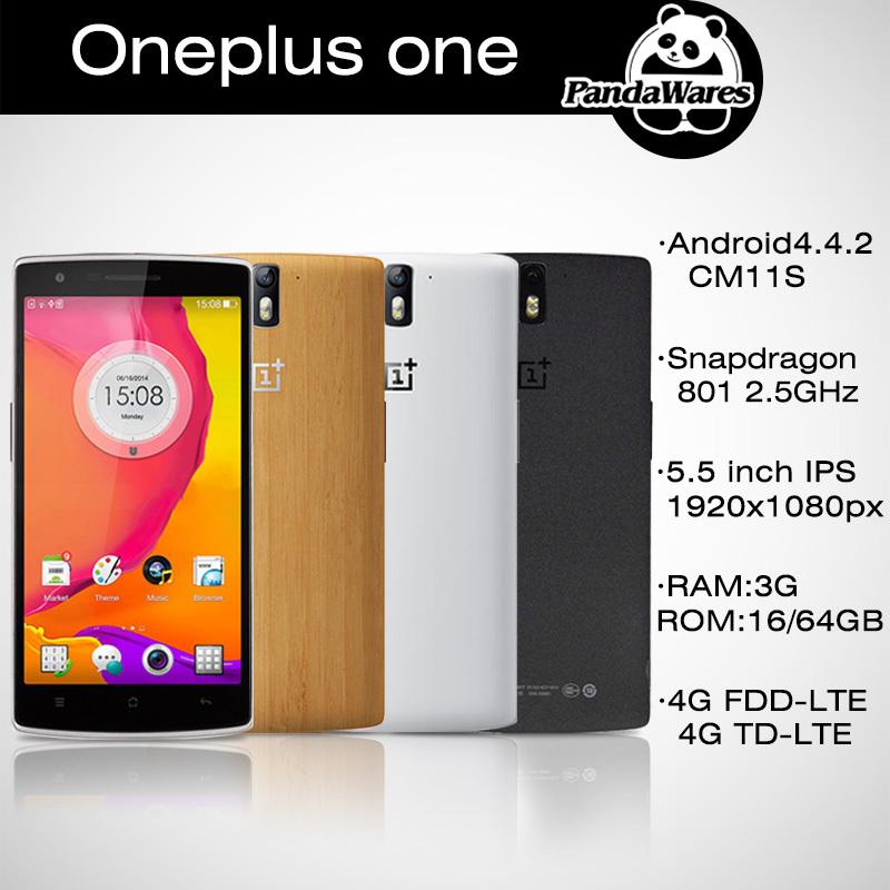 Original Oneplus One Plus One 16GB 64GB qualcomm snapdragon 801 Quad Core Smartphone CM11S 4G LTE 5.5 IPS FHD 3G RAM WCDMA phone(China (Mainland))