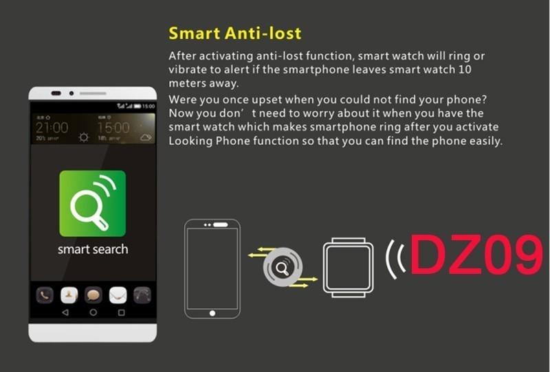 Smart watch DZ09 for Android&IOS support SMI/TF men bluetooth wristwatch smartwatch phone pk leomf gv18 gt08 gv09 m26