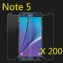 Protective Film Premium Tempered Glass Screen Protector  for Samsung Galaxy Note 5 200pcs/lot  Free shipping