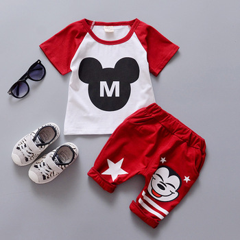 2016 New Summer Children Sets Cotton Sports two piece suit for 1 2 3 4 years old baby boys girls  short set A234