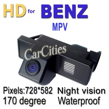 CCD car rearview camera170 degree for Benz MPV Waterproof shockproof Night version Size:76*31.3*59.8mm car parking camera