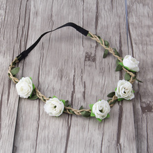 Azaleas Flowers Headband Hair Wreath