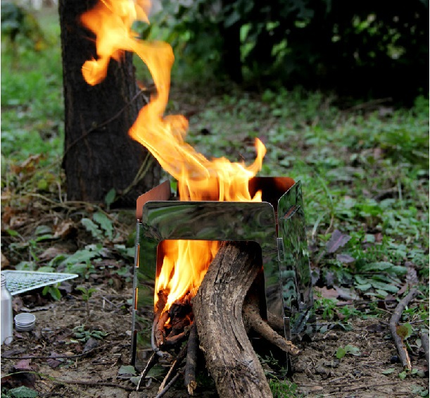 Outdoor Potable wood-burning Stoves also can use alcohol(China (Mainland))