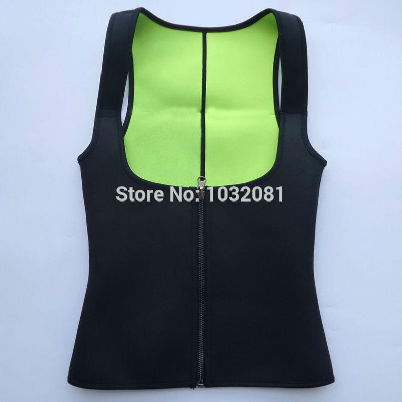 plus size women sweat enhancing waist cincher corset workout waist trainer sauna suit sexy vest hot shaper body sexy top E12