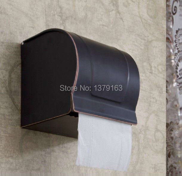 Black Oil Rubbed Bronze Wall Mounted Copper Covered Paper Towel Holder Bathroom Accessory