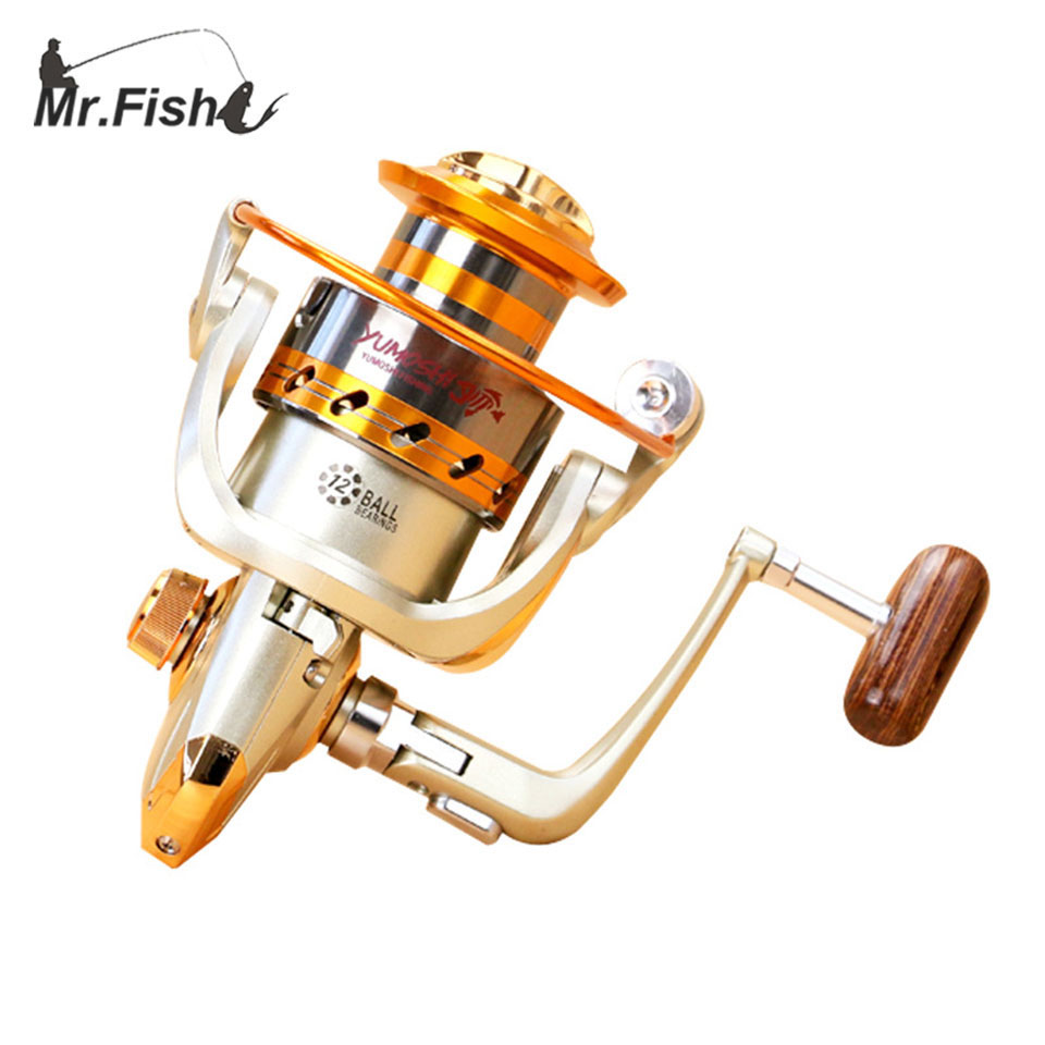 Mr. Fish 2016 New EF500 - 9000 Series Aluminum Fishing Reels 12BB Ball Bearings Type Reel Anti seawater corrosion roller fishing(China (Mainland))