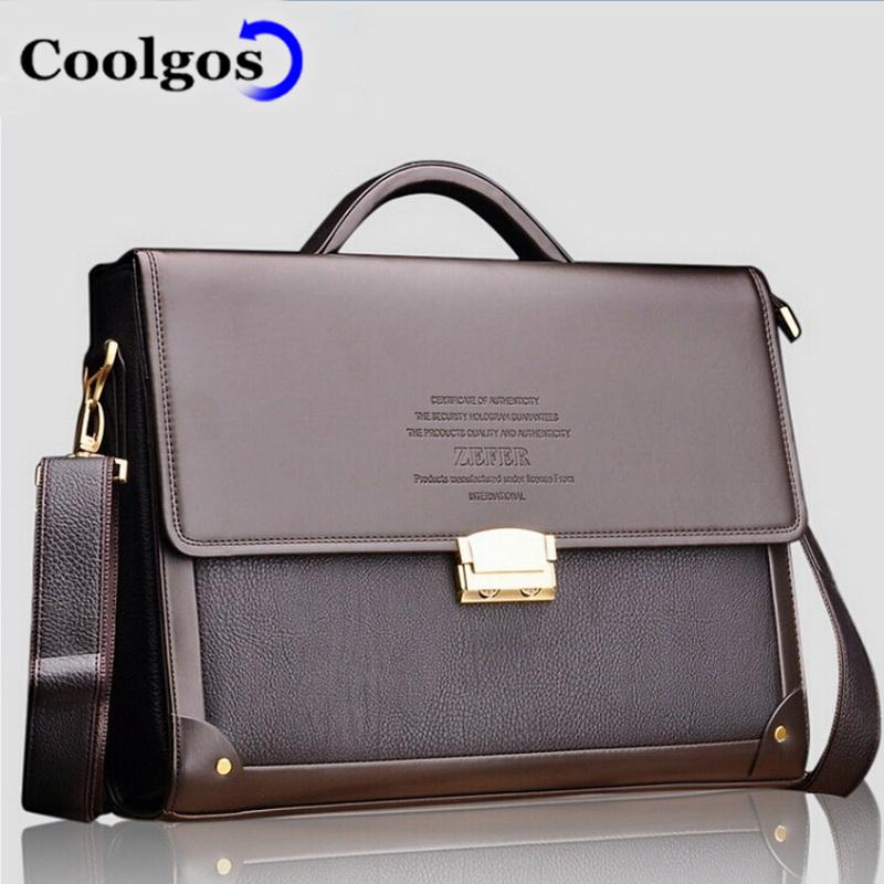 2016 Fashion Men Bags Hot Sale Leather Briefcase Portfolio Famous Brand Business Bag Coded Lock Bags Messenger Shoulder Belt Bag(China (Mainland))