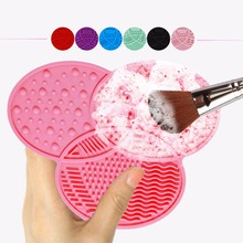 Buy Compact Makeup Brush Cleaner Mat Silicone Scrubber Board Deep Cleaning Brush Pad Washing Cosmetic Brush Tools Cleansing Pad for $1.36 in AliExpress store