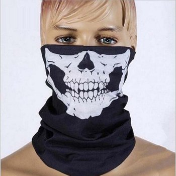 Halloween Skull Skeleton Party Masks Black Motorcycle Multi Function Headwear Hat Scarf Neck Scary Sport Face Winter Ski Mask