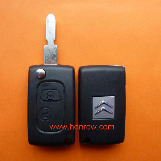 High qulity Citroen 2 button modified flip remote key blank sales with NE78 Blade with free shipping