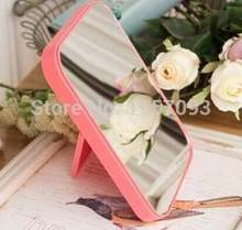 Free shipping Women Make up mirror desktop cosmetic mirror portable folded frame square festival birthday gifts(China (Mainland))