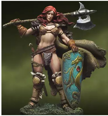 Resin Model ANDREA War Lords  54MM  Human Female Warrior  Free Shipping<br><br>Aliexpress