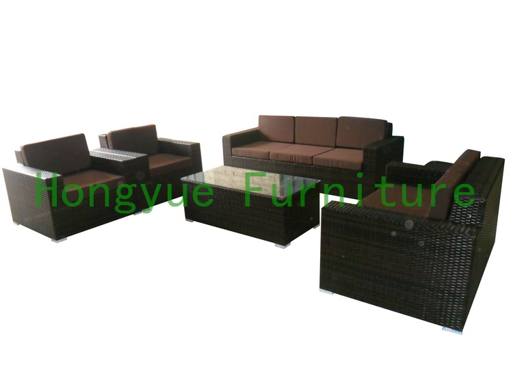 Brown Living Room Cane Chairs : brown rattan living room sofa-in Rattan / Wicker Sofas from Furniture ...