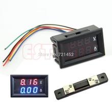 L155 envío gratis DC 100 V 50A Dual LED Digital del amperímetro del voltímetro Amp Volt Meter + derivación de corriente