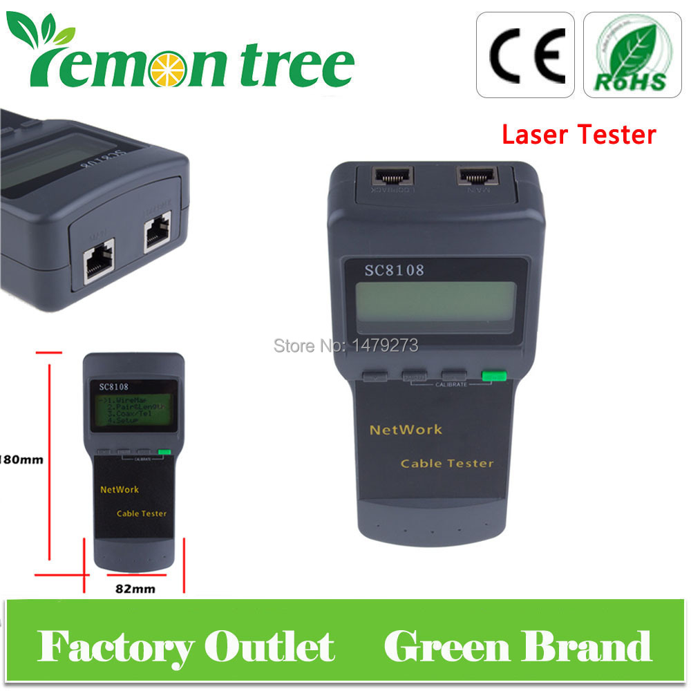 New Portable Wireless Network Cable Tester SC8108 RJ45 LAN Length Telephone Cable Location Tester Meter Measure(China (Mainland))