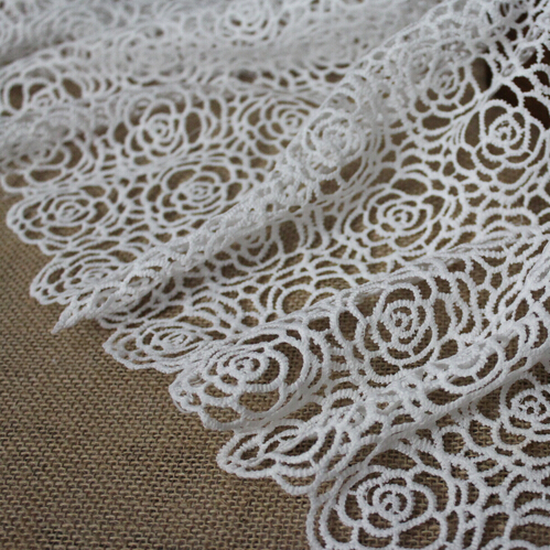 2yards lot hot sale french net lace fabric african guipure for Sewing material for sale