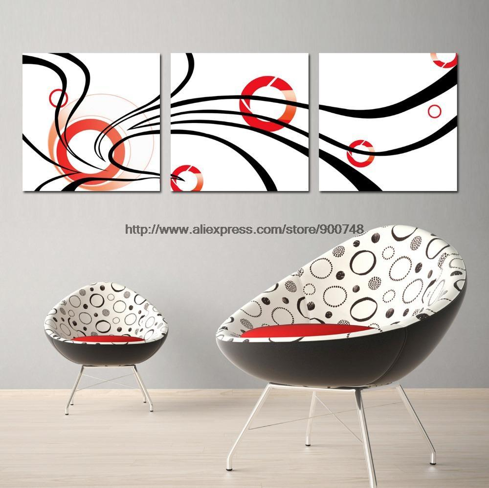 Free ship new style 3 piece wall art home decor modern set for Ship decor home