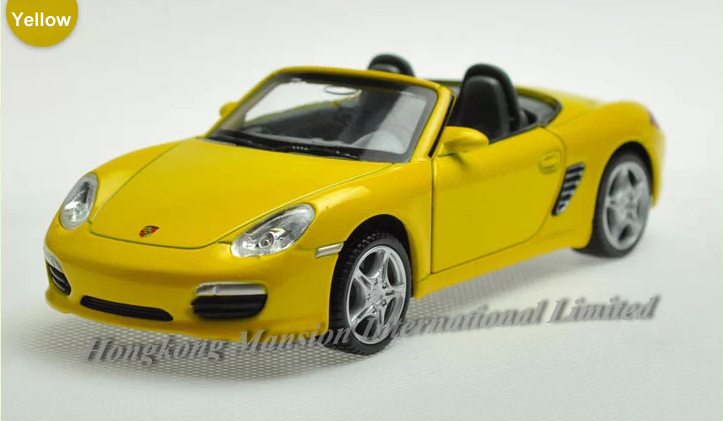 1:32 Scale Diecast Alloy Car Model For ThePorsche Boxster S Collection Pull Back Toys Car With Sound&Light-Yellow/Red/Blue/White(China (Mainland))