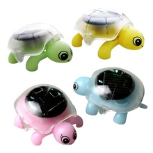 Mini Solar Powered Energy Cute Turtle Tortoise Gadget Gift Educational Toy For Kids - Color Random(China (Mainland))