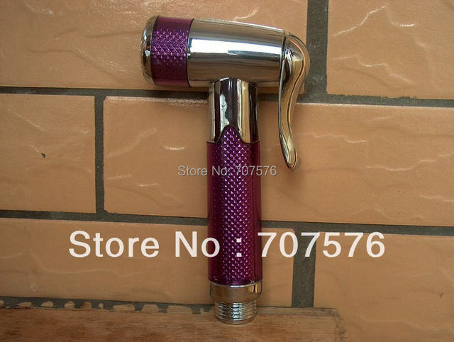 SAMPLE SALE Toilet Hi-Q Plastic Handheld Bidet Shower Head / Bathroom Plastic Shattaf Portable Sprayer Nozzle  TS158-3 purple