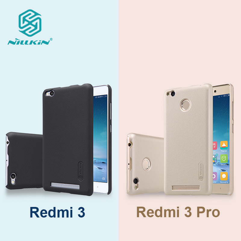 Nillkin frosted PC hard plastic case for xiaomi redmi 3 xiaomi redmi 3 pro 5 inch back cover with Screen Protector free shipping(China (Mainland))