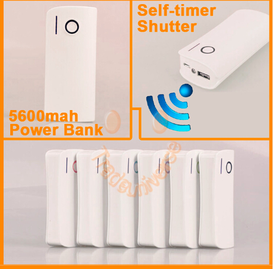 NEWEST 5600mah power bank wireless self-timer shutter external battery remote Shutter for mobile phone portable charger